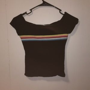 Forever 21 cropped tee size small